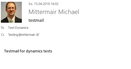 testmail to crm