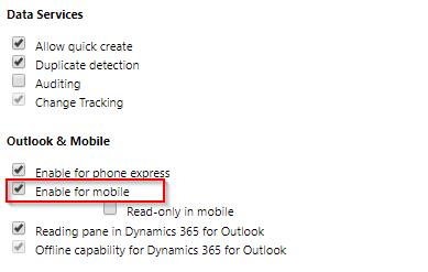 Dynamics 365 Outlook App – customizations - Microsoft